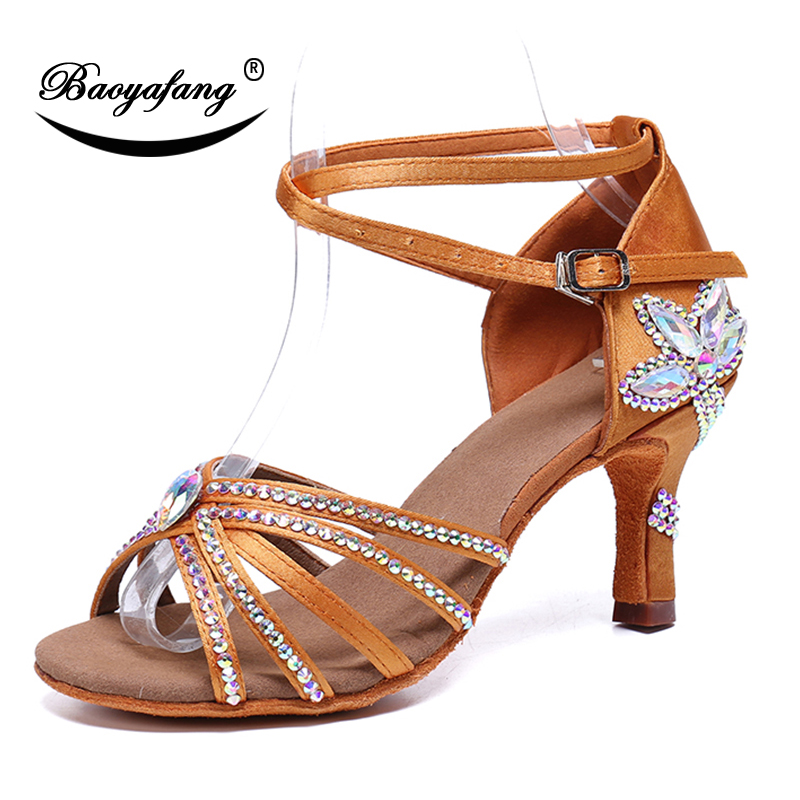 BaoYaFang woman 2019 New arrival fashion shoes Summer Sandals Performance Dancing shoes Ankle strap High Heeled