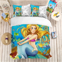 3D print Bedding set,mermaid beautiful fantasy. girls,friends kids/lovers' gifts/presents Duvet cover set
