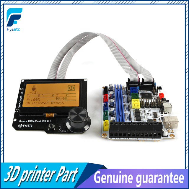 F5 V1.2 Control Board Replace BASE 1.4 & Ramps 1.4 Controller Board + Generic 12864 Panel V1.1 Smart 12864LCD Module Display