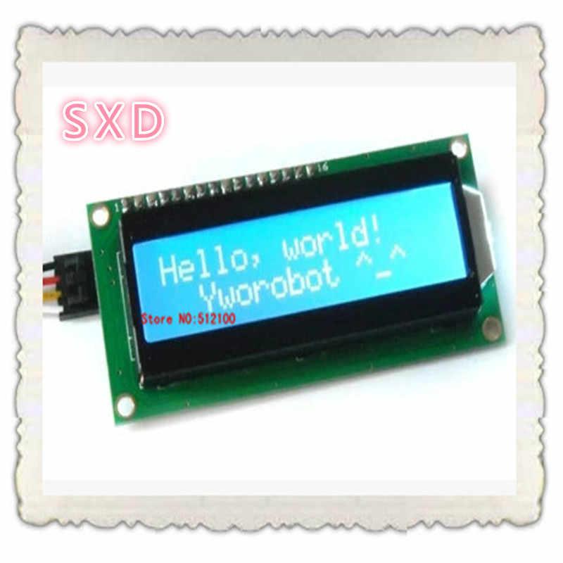 무료 배송 5 개/몫 iic/i2c 1602 직렬 파란색 백라이트 lcd 디스플레이 2560