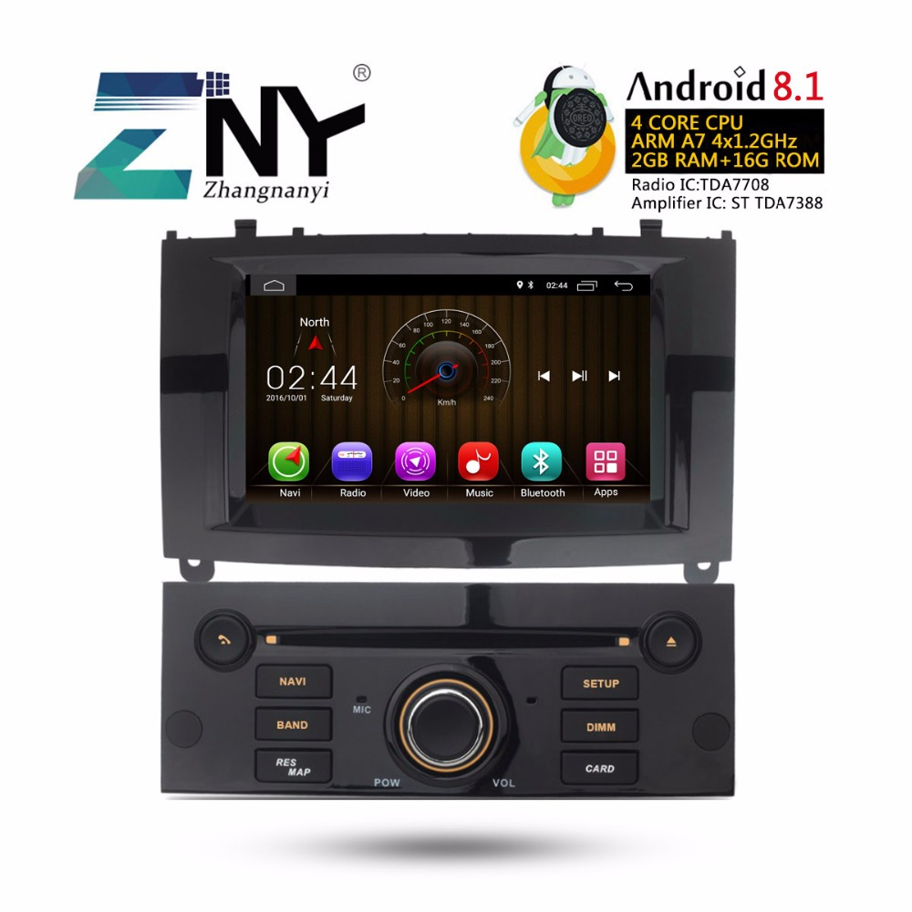 7 Android 8.1 Car Stereo Auto Radio For Peugeot 407 GPS Navigation FM RDS Wifi BT Multimedia Audio Video DVD Player Gift Camera