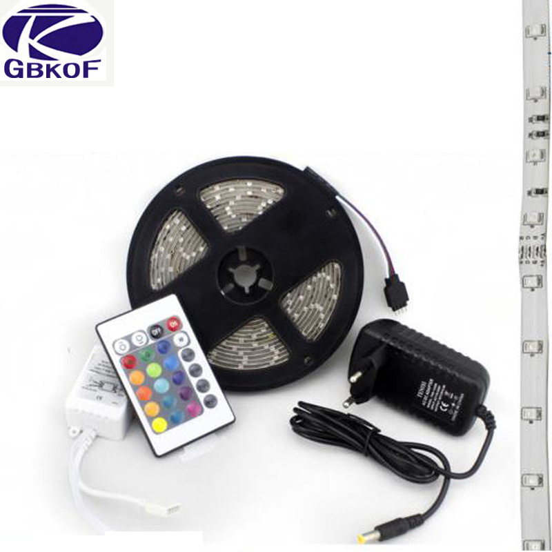 5m 3528 2835 waterproof led strip rgb ip65 led stripe - Tiras de led exterior ...