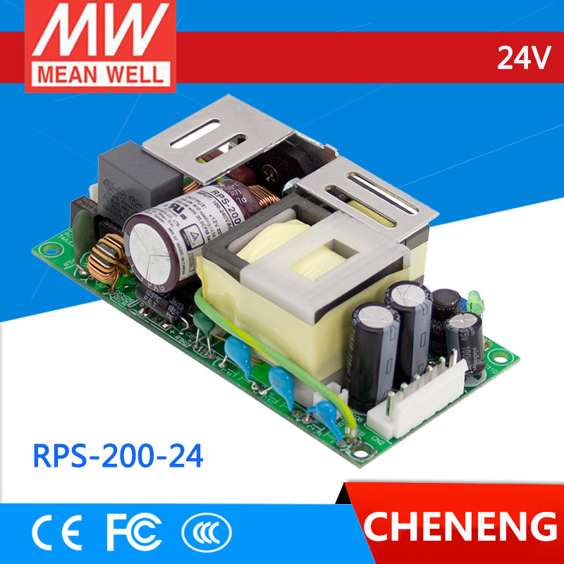[Cheneng]MEAN WELL original RPS-200-24 24V 8.4A meanwell RPS-200 24V 201.6W Single Output Green Medical Type
