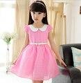 4-5-6-7-8-9-10-11-12-13 Детей одежда Хлопок Платье Девушка Цельный Платье Ребенок Старинные Принцесса Платье с поясом