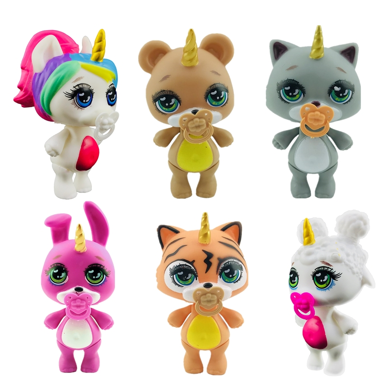 Lanyitoys New 6 Cute Styles Poopsie Squishy Unicornio Slime Soft Toys Squish Smooshy Mushy Squishy Unicorn 3.5inch Squishy Cat