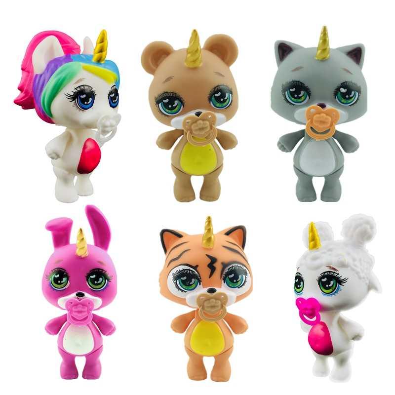 Lanyitoys 새로운 6 귀여운 스타일 poopsie squishy unicornio 점액 부드러운 장난감 squish poopsie squishy 유니콘 3.5 인치 squishy 고양이
