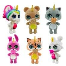 Lanyitoys novo 6 estilos bonitos poopsie squishy unicornio slime brinquedos macios squish poopsie squishy unicórnio 3.5 polegada gato mole