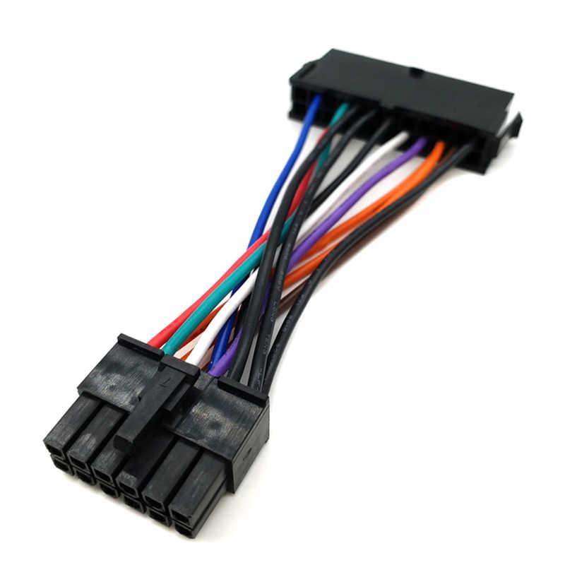 ATX 24pin para 14pin Cabo Adaptador de Energia para Lenovo IBM Q77 B75 A75 Q75 motherboard 18AWG Alta Qualidade cabo de Alimentação de energia