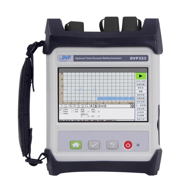 high Quality OTDR DVP323-SM-OTDR-1310-1550nm-30/28dBm Optical Time Domain Reflectometer Integrated VFL English Menuhigh Quality OTDR DVP323-SM-OTDR-1310-1550nm-30/28dBm Optical Time Domain Reflectometer Integrated VFL English Menu