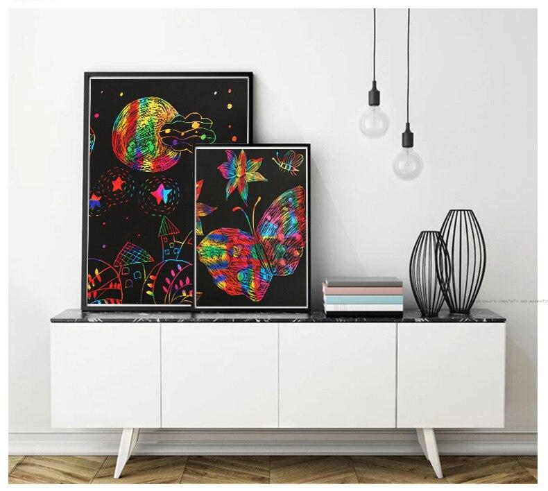 criativos 32k 16k a4 arco-íris riscando arte
