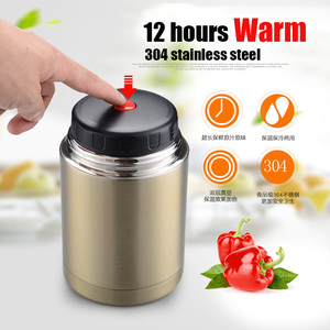 Image 3 - UPORS 800/1000ML Thermos for Food with Containers Stainless Steel Vacuum Kids School Bento Lunch Box Thermos for Soup BPA free