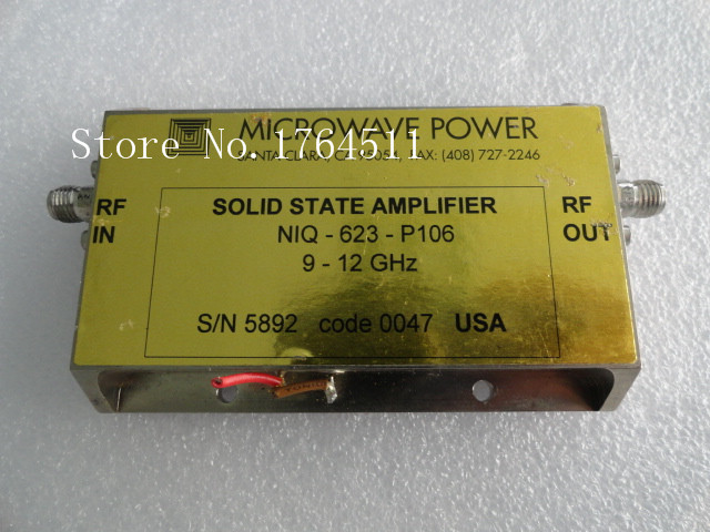 [BELLA] MICROWAVE POWER NIQ-623-P10 9-12GHZ SMA RF Broadband Amplifier