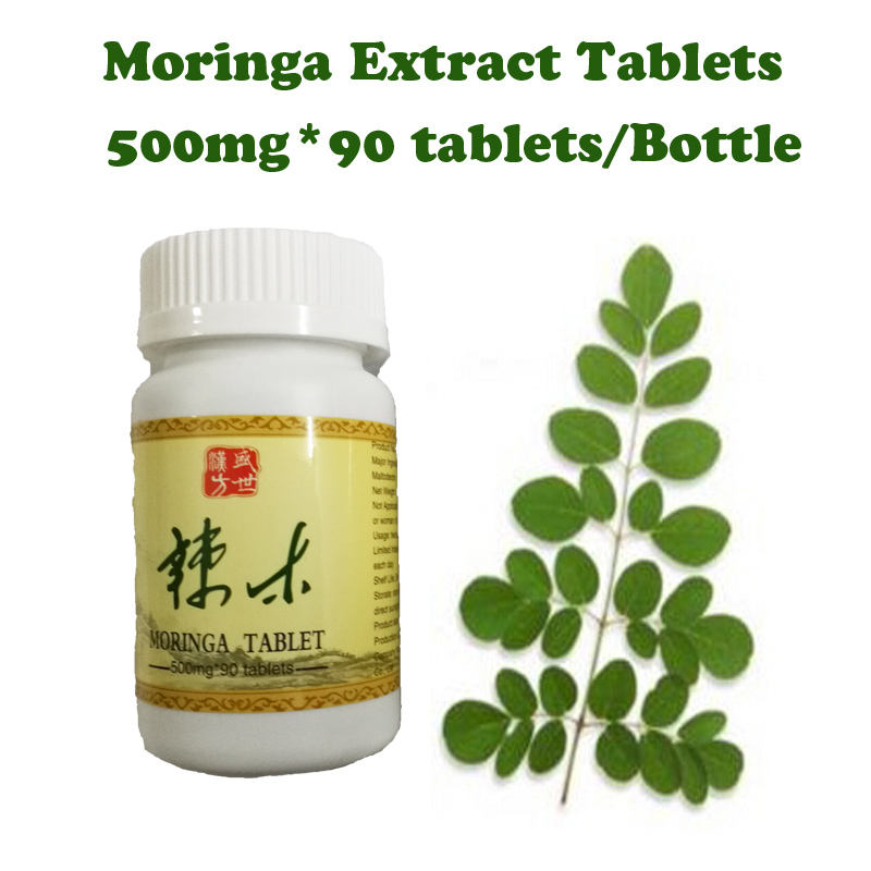 ( 2 bottles supply) Moringa extracts tablets energy booster anti-aging  Natural gain weight product supplement for men & women health supplement moringa oleifera leaf extract tablets antioxidant energy booster
