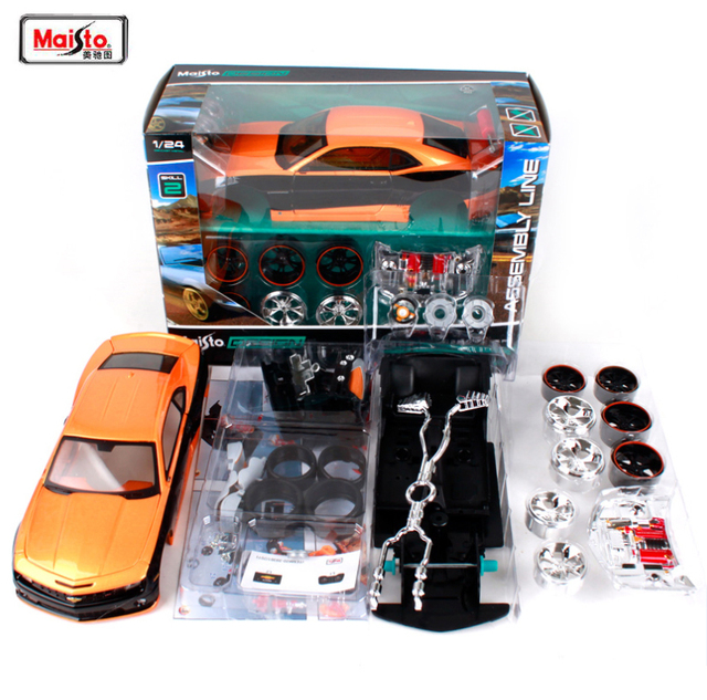 US $30 47 10% OFF|Aliexpress com : Buy New Maisto 1:24 2010 CHEVROLET  CAMARO SS RS Assembly DIY Diecast Model Car Kit Toy Kids Gifts New In Box  Free