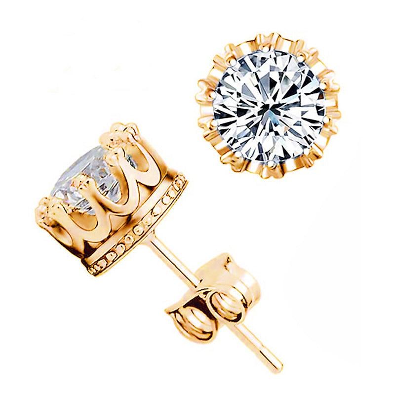 Cz Diamond Studs White Gold
