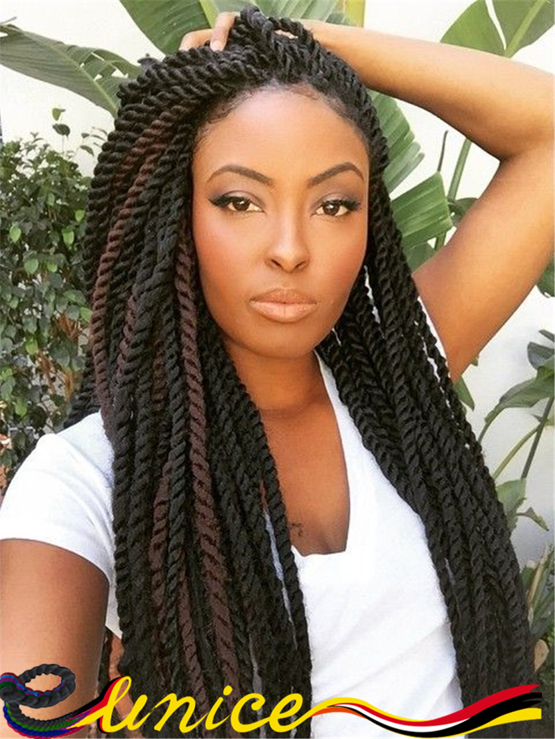 African American Rope Twist Braid 24 Inches Havana Mambo Twist