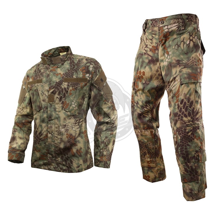 Python pattern jungle camouflage military tactical clothing Set men's outdoor hunting CS suit jacket + pants training uniform outdoor angel army fans military clothing camouflage suit wear cotton uniforms work service tactical training set jacket pants