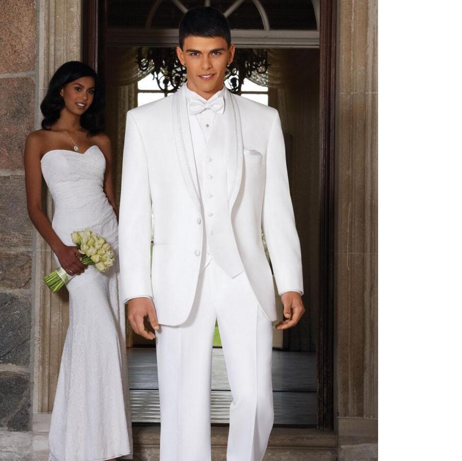 Qualité Revers Châle Nouveaux Formelle Hommes Garçons Pour Haute Blanc D'honneur Les Arrivée Slim Costumes Smokings De Mariage Fit YqxqwI1B4