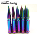 AMK racing--sk2  20Pcs 12X1.5 Spiked Aluminum Extended Tuner Wheels Rims Lug Nuts Racing JDM  staly   multicolor