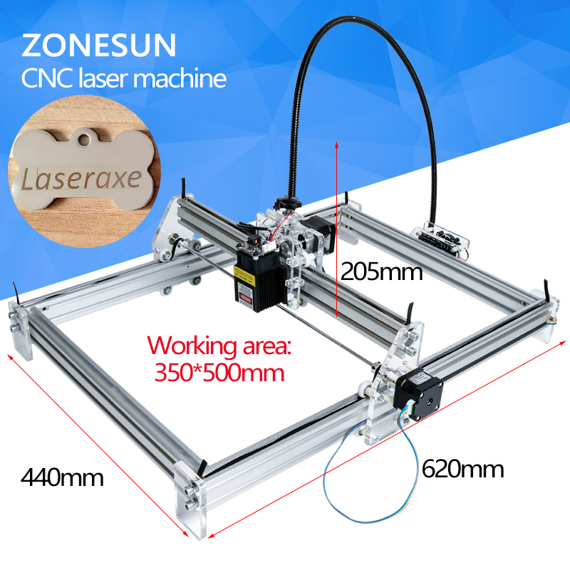 Laseraxe 450nm 5500mW 5.5W DIY Desktop Mini Laser Engraver Engraving Machine Laser Cutter Etcher 35X50cm Adjustable Laser Power 5500mw diy desktop mini laser engraver engraving machine laser cutter etcher cnc picture logo printer 30 40cm