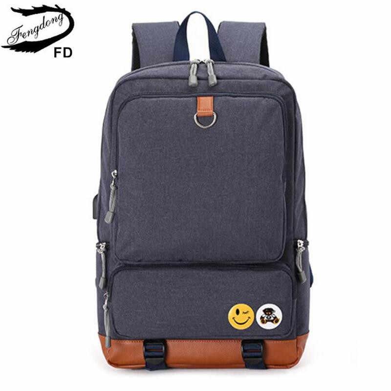 Мужской рюкзак под книги FengDong, серый или черный школьный рюкзак для мальчиков-подростков под книги, осень 2019