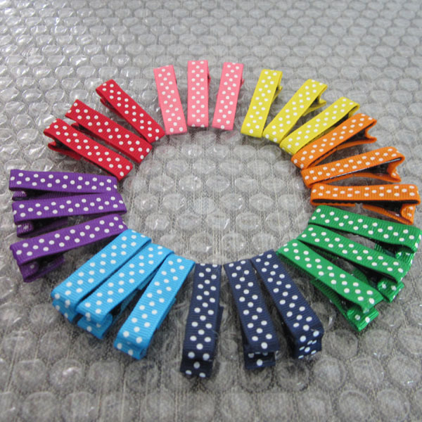 8 Color Fashion Colorful Ribbon Baby Girl Hair Clips ,   Infant Hair Pins Hair acessories Hairgrips CL08