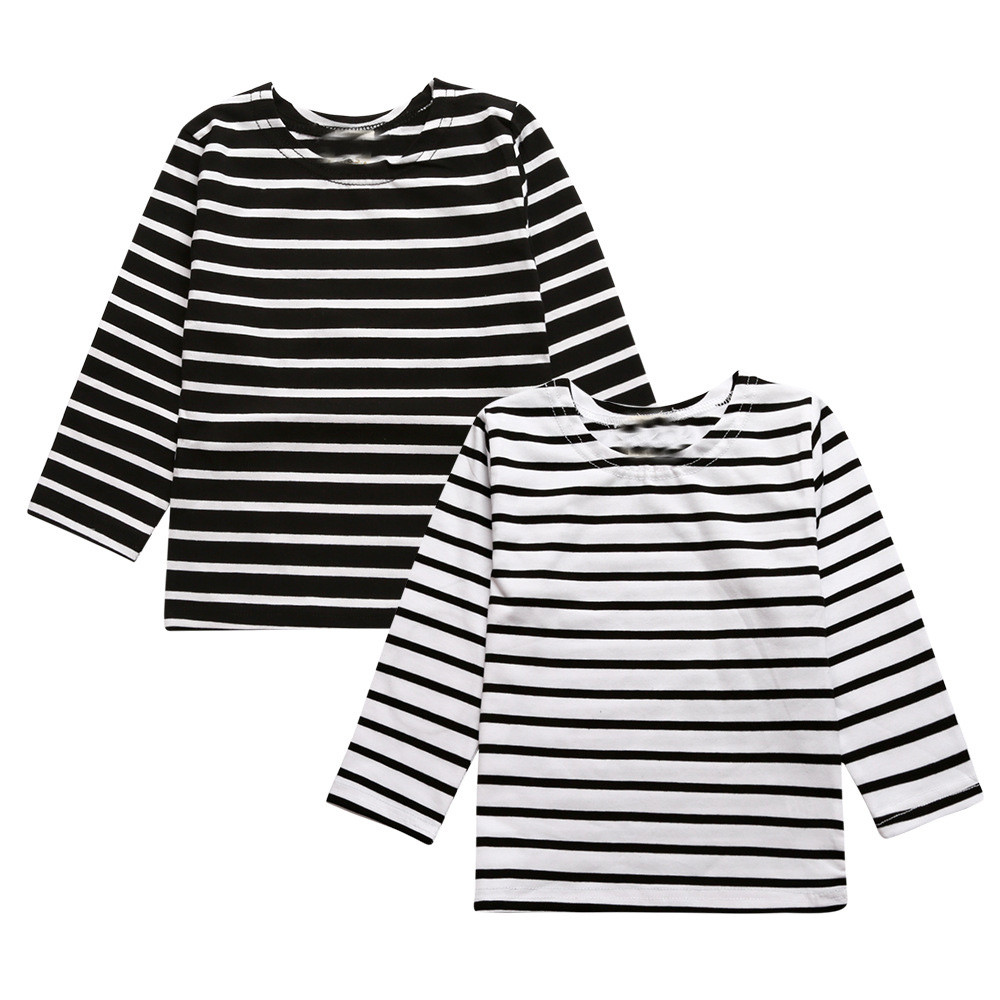 Kids Clothes Spring Autumn Long Sleeve Striped Printed T-Shirt Tops Casual Fashion Comfortable Costume Shirts Girls Boys Clothes 2018 fashion autumn winter sweatshirt boys kids child girls t shirts long sleeve letter printed baby toddlers clothes tops