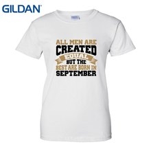 Created Equal Birthday In September T Shirts Custom Tee Near Me Funny Print Women Classic