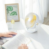 Mini Fan Foldable Handy Fan Battery Operated USB Rechargeable Electric Fans 180 Degrees Rotatable 3 Adjustable Speeds|Kitchen Gadget Sets|Home & Garden -