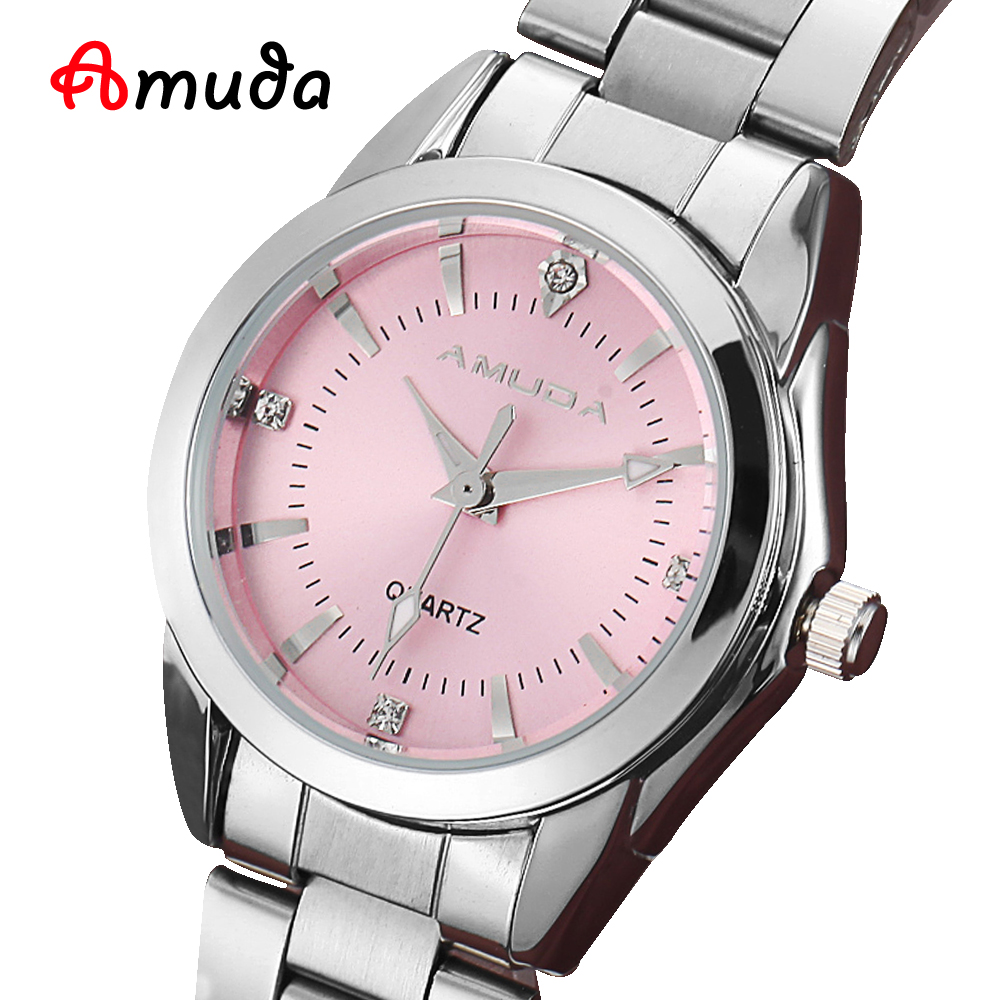 2016 fashion women pink dress watches luxury women 39 s casual watch ladies rhinestone quartz watch for Casual watches