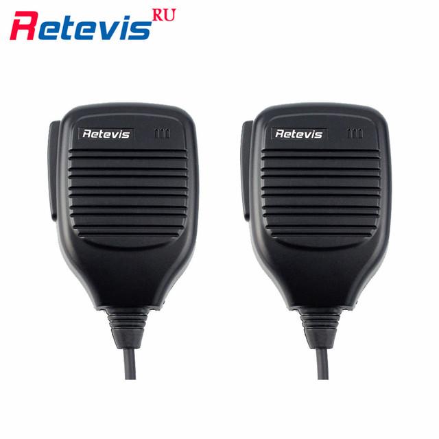 2 pcs 2pin ptt microfone walkie talkie acessórios mic para baofeng uv-5r bf-888s h777 retevis rt5r para kenwood para px