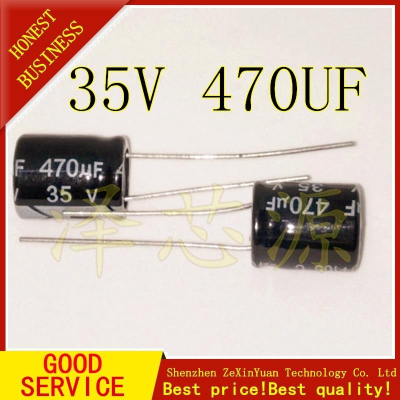 20PCS 35V 470UF Capacitance