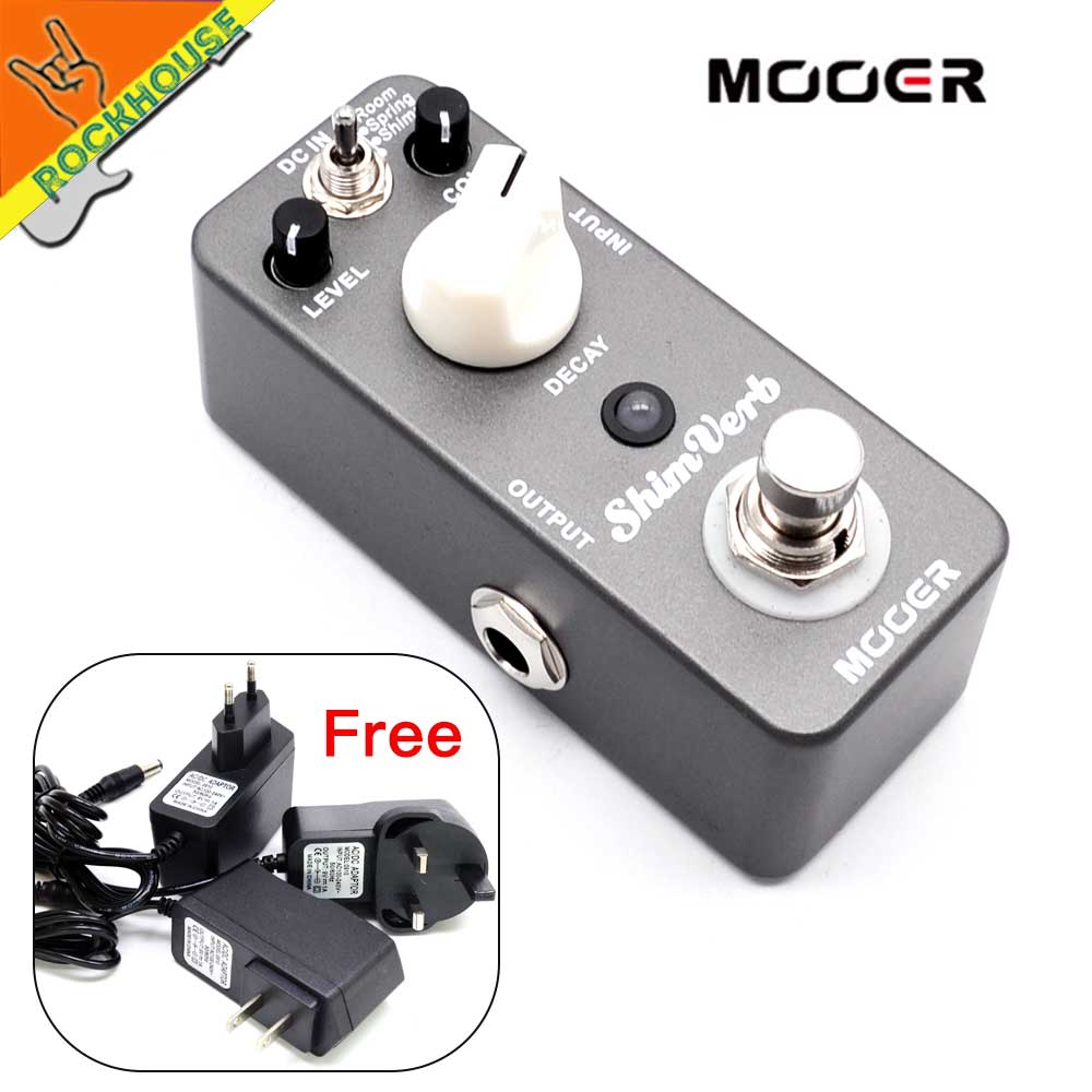 MOOER ShimVerb Reverb Guitar Effects Pedal 3 modes of reverb: room spring and shimmer reverberation True Bypass Free Shipping mooer shimverb guitar effect pedal reverb pedal true bypass excellent sound guitar accessoriesfree cable