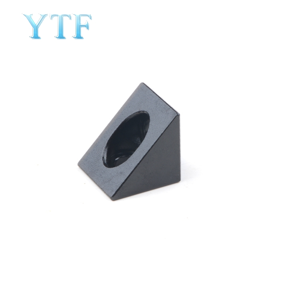 3D Printer V-slot Black Corner Connector 90 Degree Angle Bracket Fit 20mm