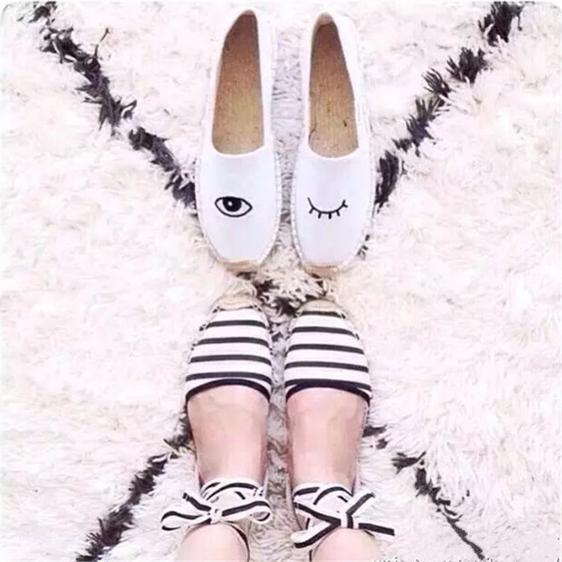 2017 New Spring Summer Shoes Woman Casual Cozy Lazy Flats Embroider Canvas Cloth Shoes Hemp Luxury Designer Fisherman Shoes Tide factory direct sale women cloth shoes new designer shoes bowknot casual shoes work flats