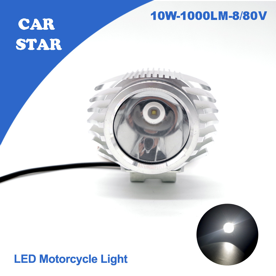 1X 2015 Motorcycle Round Headlight CREE LED Bulb DC8 80V 10W 1000LM High Low Beams For