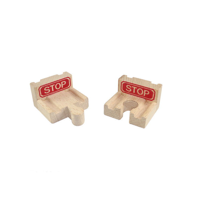 Diecasts & Toy Vehicles 2pcs/set End Buffer For Wooden Railway Beech Wood Train Circular Track Railway Vehicle Accessories Toys For Children