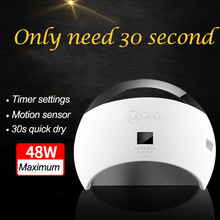 SUN6 48W UV LED Light Nail Dryer Curing Lamp Portable Open Design with 3 Timers Timer Fast Double Curing Sensor Removable Bottom