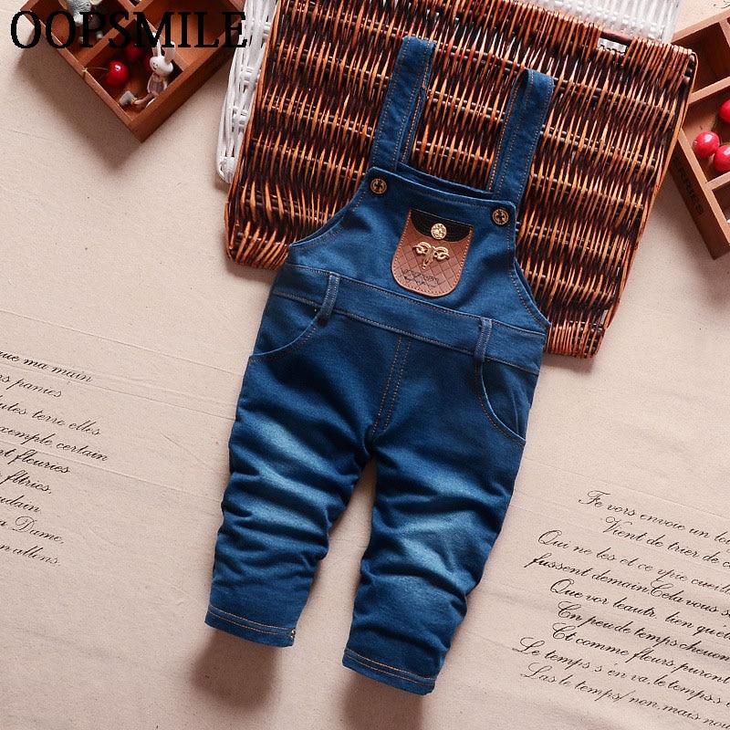Autumn Baby Boy Denim Jumpsuits Kids Boys Denim Bib Pants Fashion Children Jeans Overalls Long Kids Infant Suspenders Pants