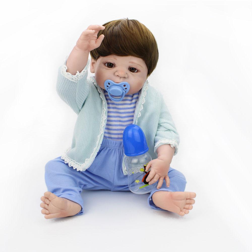 NPKDOLL 55cm Realistic Silicone Reborn Baby Dolls Boys boneca reborn corpo inteiro silicone Lifelike bebe reborn silicone
