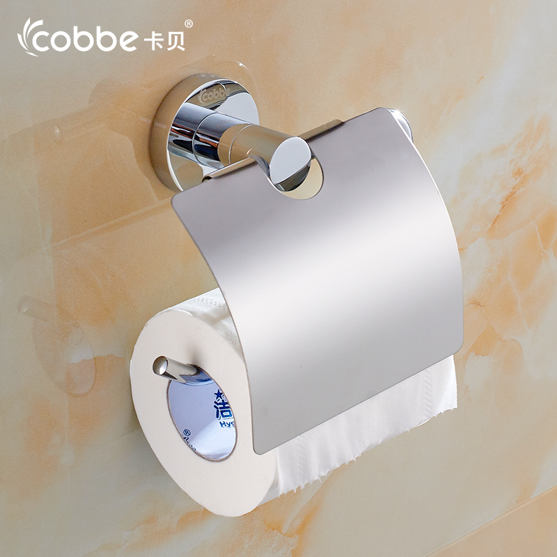 ФОТО Brass Toilet Paper Holder Wall Mounted Bathroom Accessories WC Holder Roll Holder For Bath Cobbe T79267
