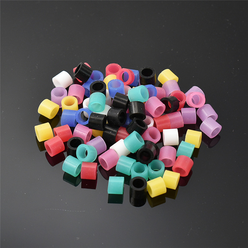 100pcs/box Dental Code Rings Standard Color Recognition Colorful Rings Soft Silicone Fit All Hand Instruments Dentist Materials