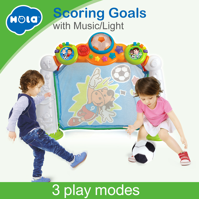HUILE TOYS 937 Baby Toys 2 in 1 Football Game Soccer Scoring Goal Game with Music & Light 3 Mode (Penalty, Pass, Time Challenge)