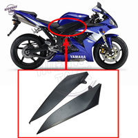 Black Motorcycle Tank Side Cover Panel Fairing Frame Trim Cowl case for YAMAHA YZF R1 YZFR1 2004 2005 2006