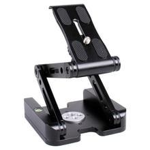 лучшая цена 360 Aluminum Folding Z-9 Flex Tilt Pan Head Tripod Ballhead Quick Release Plate Camera Stand For Nikon Canon Dslrs Sliders