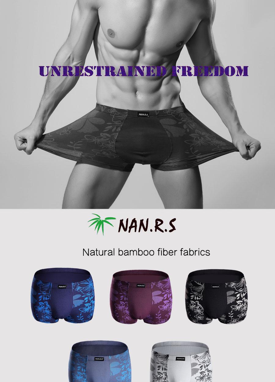 Bamboo Fibre Mens Underwear Boxer Shorts 46