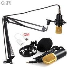 GEVO Profesional 3.5mm Wired Micrófono de Condensador BM 700 Micrófono NB-35 Soporte Ajustable Para La Grabación de Sonido del Ordenador micrófono para la computadora microfonos profesionales tarjeta de sonido USB