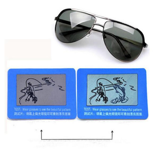 5b378e3e975 3 pcs pack Help You to Check You Sunglasses Polarized or Not Free Wear  Glasses To Check Polarized test Card 2522