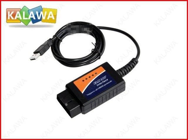 Hot auto diagnostic tools ELM 327 Interface OBD2 OBD scanner USB car diagnostic scan tool ELM327 free shipping#SSS
