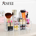 ANFEI New Diamond Pattern Cosmetic Box lipstick storage Cosmetic Organizer Perfume Nail Polish Display Transparent Color C179